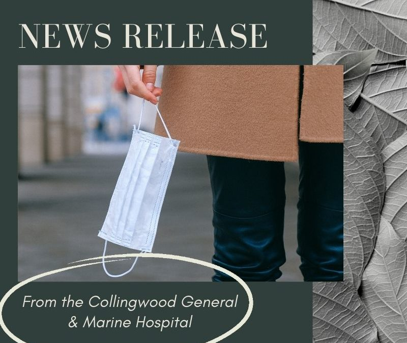 PRESS RELEASE FROM THE COLLINGWOOD GENERAL & MARINE HOSPITAL