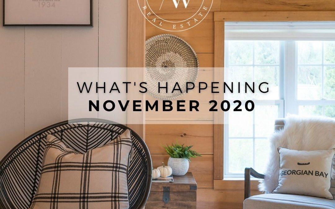 WHAT'S HAPPENING – NOVEMBER 2020
